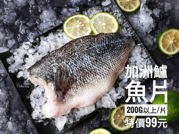 (免運專案)!!!『 加州鱸魚切片 』 200g以上/片(真空包)