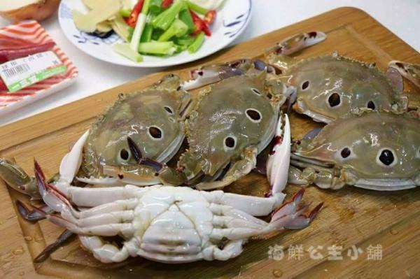 【精選有黃母三點蟹】每盒1Kg ±10%約5~6/隻