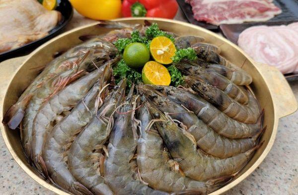 活凍大白蝦 每盒600g 約20/隻