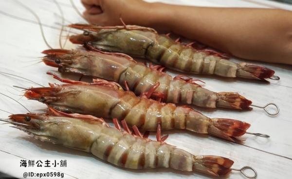 巨大野生海草蝦 每盒淨重1000g  3-4隻