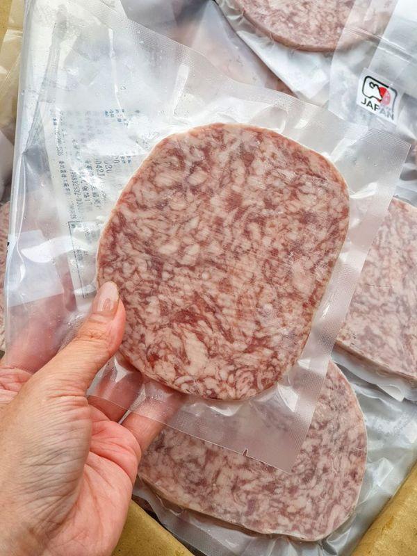 (免運專案)《日本和牛漢堡肉》*10片  100g/片