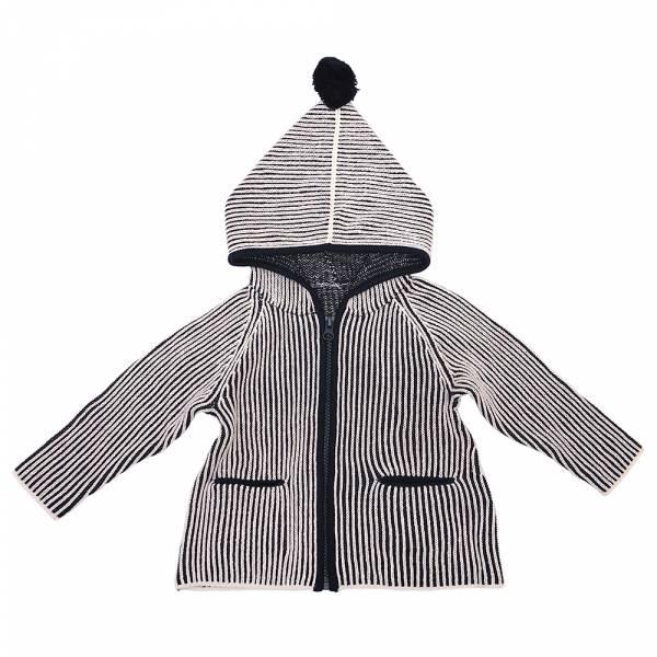 有機棉針織連帽外套-藍毛球 加拿大有機棉和竹纖維第一童裝品牌,通過國際最高標準有機認證「GOTS」和「OCIA」。100%透氣無毒,對於受濕疹、異位性(過敏性)皮膚炎、呼吸道問題、換季不適等困擾的嬰幼兒最安心。