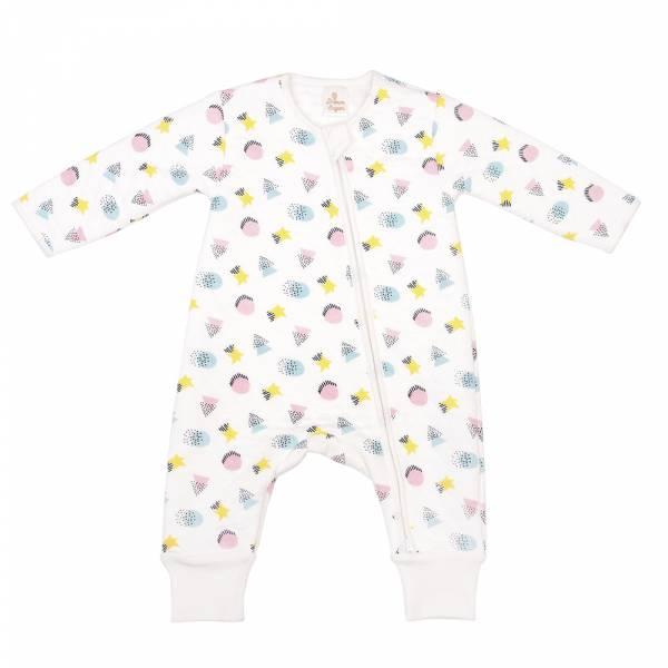 加厚鋪棉雙拉鍊連身衣-繽紛馬卡龍 有機棉, 天然, 無毒 過敏 有機, 異位性皮膚炎, 新生兒, 嬰兒, 新生兒衣物, 嬰幼兒, 包屁衣, 竹纖維, 透氣, 汗疹