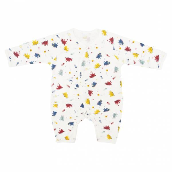 新生兒有機竹纖維和尚服-外星恐龍 有機棉,天然無毒 不過敏 有機, 異位性皮膚炎, 新生兒, 嬰兒, 新生兒衣物, 嬰幼兒, 和尚服,透氣,汗疹,0-6個月