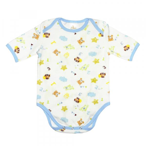有機棉粉嫩彩色短袖包屁衣-Smile熊熊 有機棉, 天然, 無毒 過敏 有機, 異位性皮膚炎, 新生兒, 嬰兒, 新生兒衣物, 嬰幼兒, 包屁衣, 竹纖維, 透氣, 汗疹