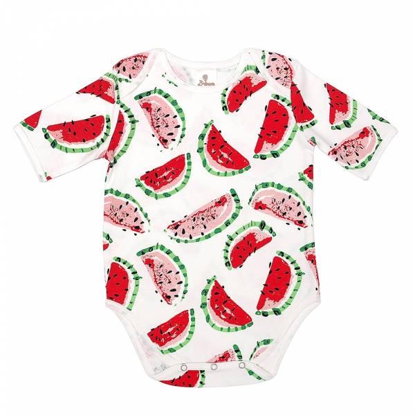 有機棉粉嫩彩色短袖包屁衣-小西瓜 有機棉, 天然, 無毒 過敏 有機, 異位性皮膚炎, 新生兒, 嬰兒, 新生兒衣物, 嬰幼兒, 包屁衣, 竹纖維, 透氣, 汗疹