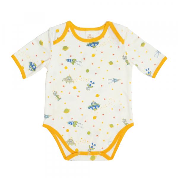 有機棉粉嫩彩色短袖包屁衣-翱翔星球 有機棉, 天然, 無毒 過敏 有機, 異位性皮膚炎, 新生兒, 嬰兒, 新生兒衣物, 嬰幼兒, 包屁衣, 竹纖維, 透氣, 汗疹