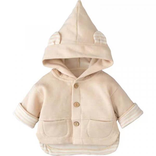 有機棉兔耳朵連帽外套 加拿大有機棉和竹纖維第一童裝品牌,通過國際最高標準有機認證「GOTS」和「OCIA」。100%透氣無毒,對於受濕疹、異位性(過敏性)皮膚炎、呼吸道問題、換季不適等困擾的嬰幼兒最安心。