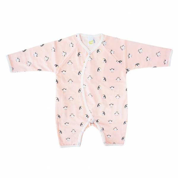 新生兒有機竹纖維和尚服-小企鵝(粉) 有機棉,天然無毒 不過敏 有機, 異位性皮膚炎, 新生兒, 嬰兒, 新生兒衣物, 嬰幼兒, 和尚服,透氣,汗疹,0-6個月