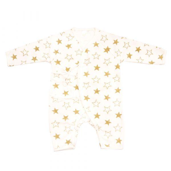 新生兒有機棉和尚服-Golden Star 有機棉,天然無毒 不過敏 有機, 異位性皮膚炎, 新生兒, 嬰兒, 新生兒衣物, 嬰幼兒, 和尚服,透氣,汗疹,0-6個月