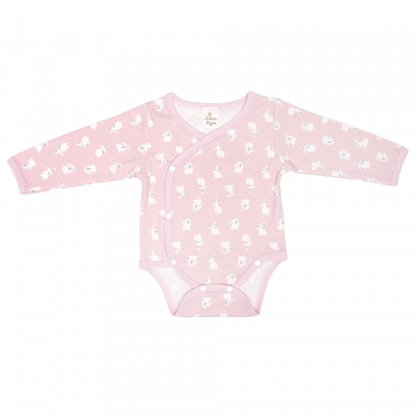 有機棉長袖包屁衣-粉紅兔 有機棉, 天然, 無毒 過敏 有機, 異位性皮膚炎, 新生兒, 嬰兒, 新生兒衣物, 嬰幼兒, 包屁衣, 竹纖維, 透氣, 汗疹