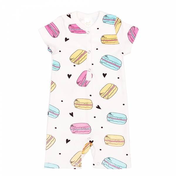 有機棉短袖連身衣-馬卡龍 有機棉, 天然, 無毒 過敏 有機, 異位性皮膚炎, 新生兒, 嬰兒, 新生兒衣物, 嬰幼兒, 包屁衣, 竹纖維, 透氣, 汗疹