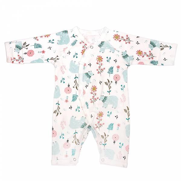 新生兒有機棉和尚服-花熊熊 有機棉, 天然, 無毒 過敏 有機, 異位性皮膚炎, 新生兒, 嬰兒, 新生兒衣物, 嬰幼兒, 包屁衣, 竹纖維, 透氣, 汗疹