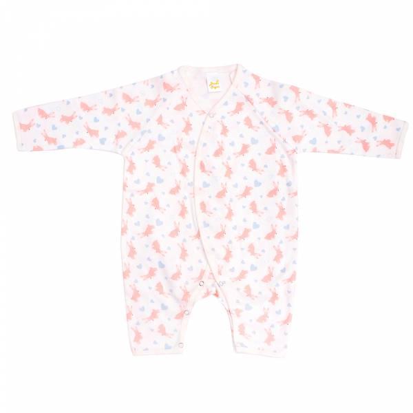 新生兒有機棉和尚服-愛心兔兔 有機棉,天然無毒 不過敏 有機, 異位性皮膚炎, 新生兒, 嬰兒, 新生兒衣物, 嬰幼兒, 和尚服,透氣,汗疹,0-6個月