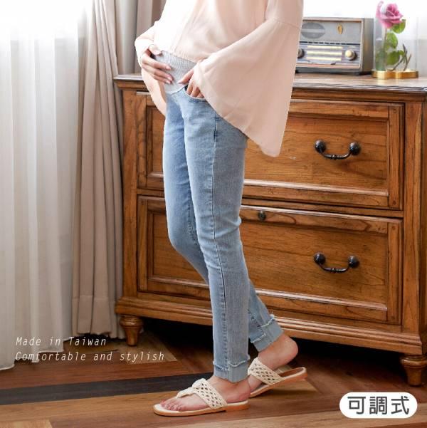 孕媽咪彈力小腳牛仔褲(藍/黑) M~XL 加拿大有機棉和竹纖維第一童裝品牌,通過有機棉最高認證標準,舒適孕婦褲,孕婦牛仔褲