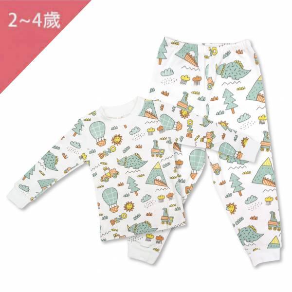 有機棉家居服套裝-恐龍世界 有機棉, 天然, 無毒 過敏 有機, 異位性皮膚炎, 新生兒, 嬰兒, 新生兒衣物, 嬰幼兒, 包屁衣, 竹纖維, 透氣, 汗疹