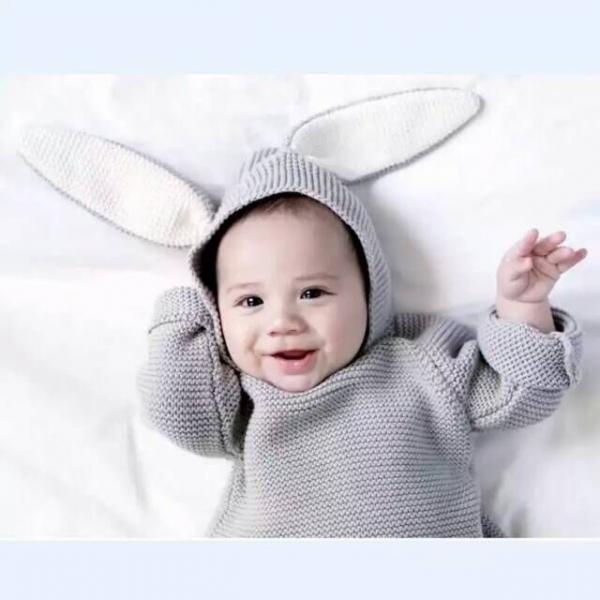 有機棉針織帽T-兔寶寶 有機棉, 天然, 無毒 過敏 有機, 異位性皮膚炎, 新生兒, 嬰兒, 新生兒衣物, 嬰幼兒, 包屁衣, 竹纖維, 透氣, 汗疹,