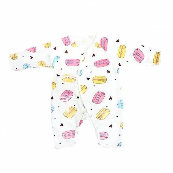 新生兒有機棉和尚服-馬卡龍 有機棉,天然無毒 不過敏 有機, 異位性皮膚炎, 新生兒, 嬰兒, 新生兒衣物, 嬰幼兒, 和尚服,透氣,汗疹,0-6個月