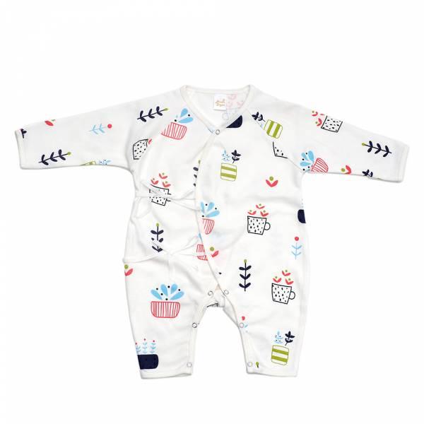 新生兒有機棉和尚服-Happyplant 有機棉,天然無毒 不過敏 有機,異位性皮膚炎,新生兒, 嬰兒, 新生兒衣物, 嬰幼兒, 和尚服, 透氣, 汗疹,0-6個月