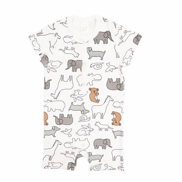 有機棉短袖連身衣-無尾熊 有機棉, 天然, 無毒 過敏 有機, 異位性皮膚炎, 新生兒, 嬰兒, 新生兒衣物, 嬰幼兒, 包屁衣, 竹纖維, 透氣, 汗疹