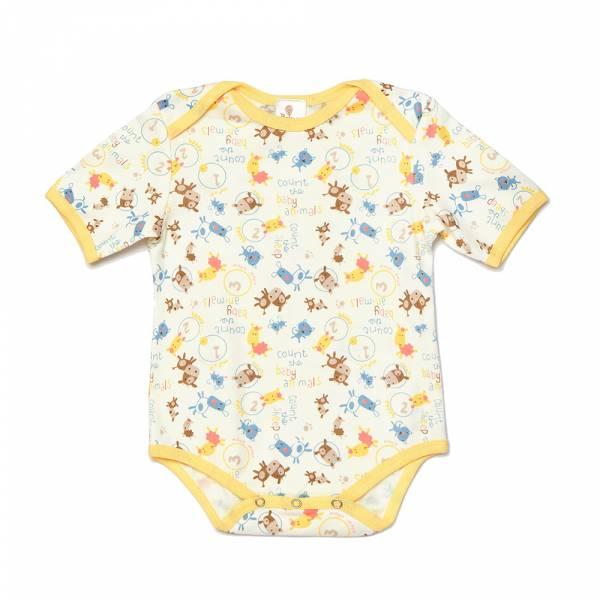 有機棉粉嫩彩色短袖包屁衣-小綿羊 有機棉, 天然, 無毒 過敏 有機, 異位性皮膚炎, 新生兒, 嬰兒, 新生兒衣物, 嬰幼兒, 包屁衣, 竹纖維, 透氣, 汗疹