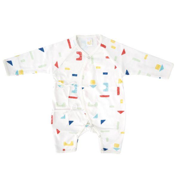 新生兒有機棉和尚服-彩色積木 有機棉,天然無毒 不過敏 有機, 異位性皮膚炎, 新生兒, 嬰兒, 新生兒衣物, 嬰幼兒, 和尚服,透氣,汗疹,0-6個月
