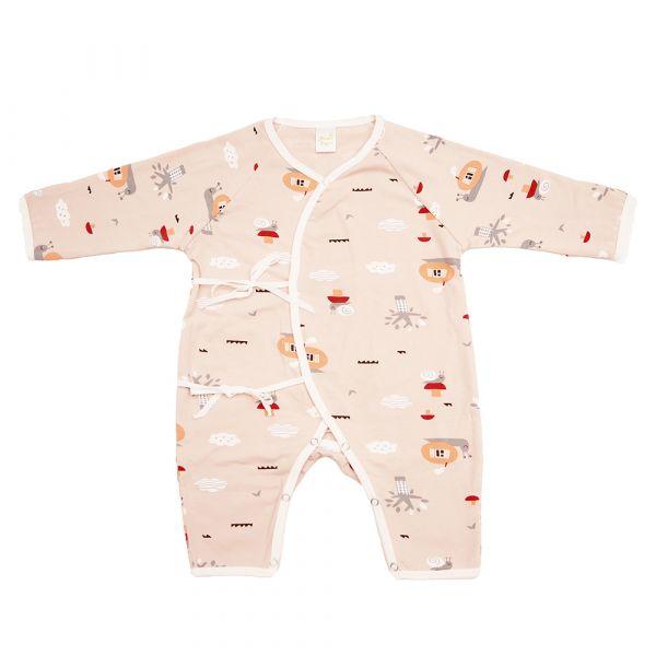 新生兒有機竹纖維和尚服-蝸牛天空 有機棉,天然無毒 不過敏 有機, 異位性皮膚炎, 新生兒, 嬰兒, 新生兒衣物, 嬰幼兒, 和尚服,透氣,汗疹,0-6個月