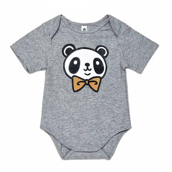 有機竹棉熊貓家族短袖包屁衣-啾啾灰 加拿大有機棉和竹纖維第一童裝品牌,通過國際最高標準有機認證「GOTS」和「OCIA」。100%透氣無毒,對於受濕疹、異位性(過敏性)皮膚炎、呼吸道問題、換季不適等困擾的嬰幼兒最安心