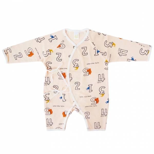 新生兒有機棉和尚服-數字動物 有機棉,天然無毒 不過敏 有機, 異位性皮膚炎, 新生兒, 嬰兒, 新生兒衣物, 嬰幼兒, 和尚服,透氣,汗疹,0-6個月