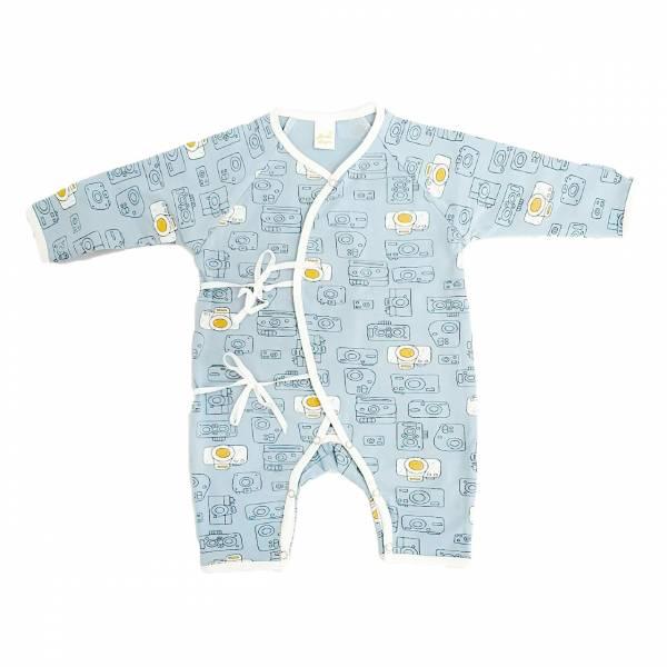 新生兒有機竹纖維和尚服-快樂照相機 有機棉,天然無毒 不過敏 有機, 異位性皮膚炎, 新生兒, 嬰兒, 新生兒衣物, 嬰幼兒, 和尚服,透氣,汗疹,0-6個月