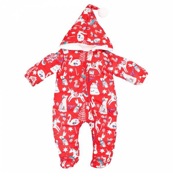 嬰兒充棉連身包腳衣-旋轉木馬 充棉連身衣,極致保暖,對抗寒冬,親膚柔軟,可愛花色,絨毛球100%兔毛製造,內裡含90%鵝絨