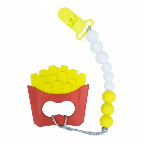 馬卡龍成長咬牙固齒器-小薯條 加拿大有機棉和竹纖維第一童裝品牌,通過國際最高標準有機認證「GOTS」和「OCIA」。100%透氣無毒,對於受濕疹、異位性(過敏性)皮膚炎、呼吸道問題、換季不適等困擾的嬰幼兒最安心