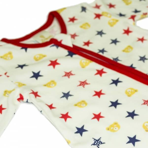 有機棉雙拉鍊長袖連身衣-Star熊熊 有機棉, 天然, 無毒 過敏 有機, 異位性皮膚炎, 新生兒, 嬰兒, 新生兒衣物, 嬰幼兒, 包屁衣, 竹纖維, 透氣, 汗疹