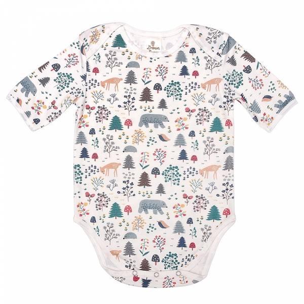 有機竹纖維粉嫩彩色短袖包屁衣-綠光森林 有機棉, 天然, 無毒 過敏 有機, 異位性皮膚炎, 新生兒, 嬰兒, 新生兒衣物, 嬰幼兒, 包屁衣, 竹纖維, 透氣, 汗疹