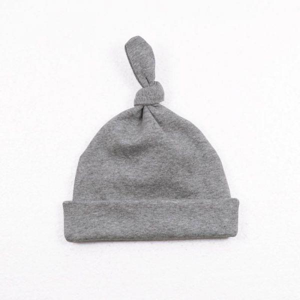 【只送不賣】有機棉嬰兒帽 - 灰色