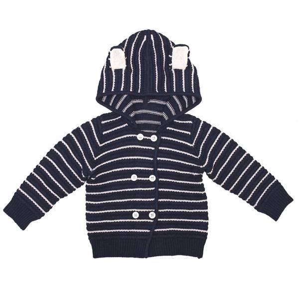 有機棉針織連帽外套-藍耳朵 加拿大有機棉和竹纖維第一童裝品牌,通過國際最高標準有機認證「GOTS」和「OCIA」。100%透氣無毒,對於受濕疹、異位性(過敏性)皮膚炎、呼吸道問題、換季不適等困擾的嬰幼兒最安心。