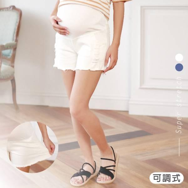 孕媽咪彈力牛仔短褲-白色 M~L 加拿大有機棉和竹纖維第一童裝品牌,通過國際最高標準有機認證「GOTS」和「OCIA」。100%透氣無毒,對於受濕疹、異位性(過敏性)皮膚炎、呼吸道問題、換季不適等困擾的嬰幼兒最安心