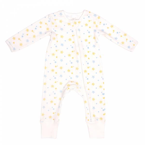 有機竹纖維雙拉鍊長袖連身衣-Shinystar 有機棉, 天然, 無毒 過敏 有機, 異位性皮膚炎, 新生兒, 嬰兒, 新生兒衣物, 嬰幼兒, 包屁衣, 竹纖維, 透氣, 汗疹