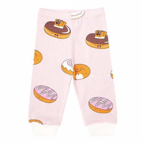 有機棉嬰兒長褲-熊貓甜甜圈(粉紅) 有機棉, 天然, 無毒 過敏 有機, 異位性皮膚炎, 新生兒, 嬰兒, 新生兒衣物, 嬰幼兒, 包屁衣, 竹纖維, 透氣, 汗疹