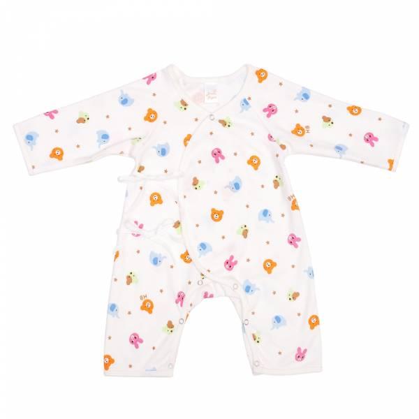 新生兒有機棉和尚服-動物樂園 有機棉, 天然, 無毒 過敏 有機, 異位性皮膚炎, 新生兒, 嬰兒, 新生兒衣物, 嬰幼兒, 包屁衣, 竹纖維, 透氣, 汗疹