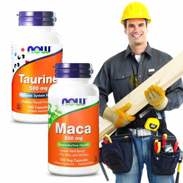NOW健而婷 牛磺瑪力再現套組(瑪卡MACA+牛磺酸) 牛磺酸,瑪卡