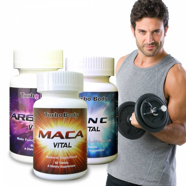 Turbo Body-無敵戰將威風套組-精益猛強效瑪卡錠+強效鋅+精胺酸