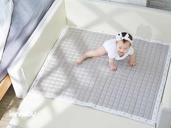 ianbaby® 韓製四季透氣雙面QQ睡墊 (摩卡咖) 嬰兒寢具,寶寶寢具,嬰兒睡墊,寶寶睡墊,透氣墊,兩用QQ墊,QQ墊,午睡墊,3D透氣墊,寶寶寢具,bonitabebe,婦幼展,婦嬰展