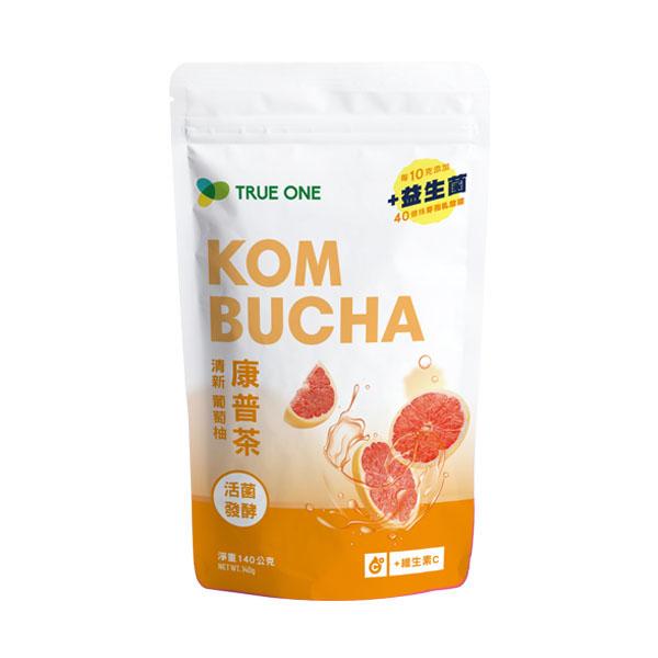 活菌發酵康普茶-清新葡萄柚 140公克/袋 康普茶,益生菌,kombucha