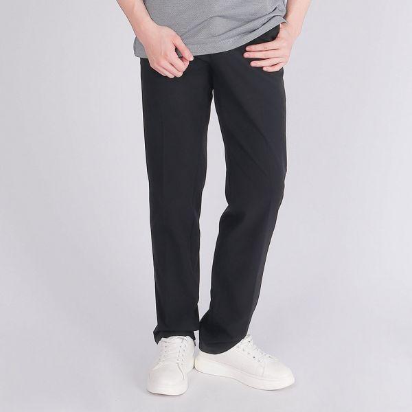 經典款,吸濕排汗休閒長褲(男)-黑