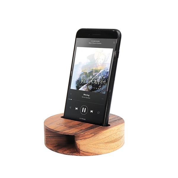 質感柚木手機擴音座 - A款 柚木,手機,擴音座