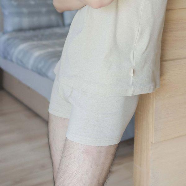 (拳擊內褲)97%GOTS認證有機棉合身短版前開四角內褲-共3色 睡衣,家居服,居家服,家居褲,居家褲,舒服睡衣,umorfil,膠原蛋白紗,美膚膠原蛋白,有機棉,親膚