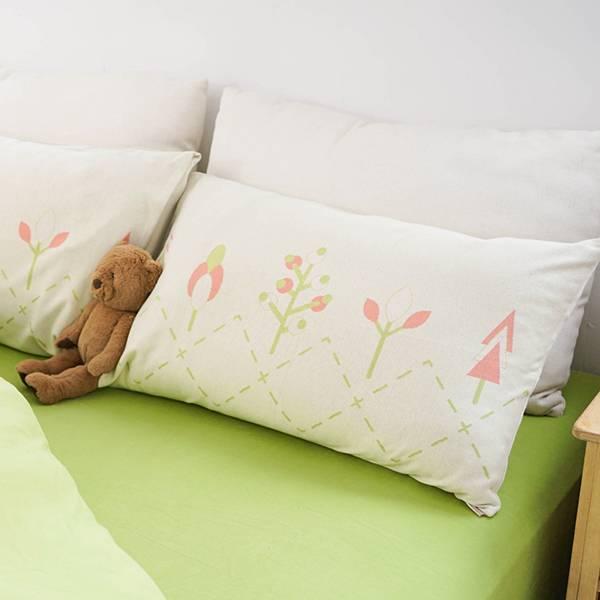 【枕套】小樹純棉針織寢具-米黃 女襪,台灣設計,台灣製造,文青,短襪,文創設計,刺蝟,膠原蛋白,居家良品,寢具,枕套