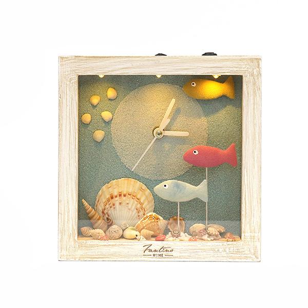 海洋深呼吸 手工木作時鐘-海底派對 魚右 家居品, 時鐘, 原木時鐘, 海洋時鐘, 手工時鐘, 療癒時鐘