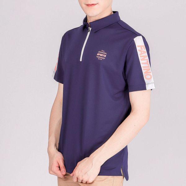 抗UV+吸濕排汗POLO衫(男)-暮藍